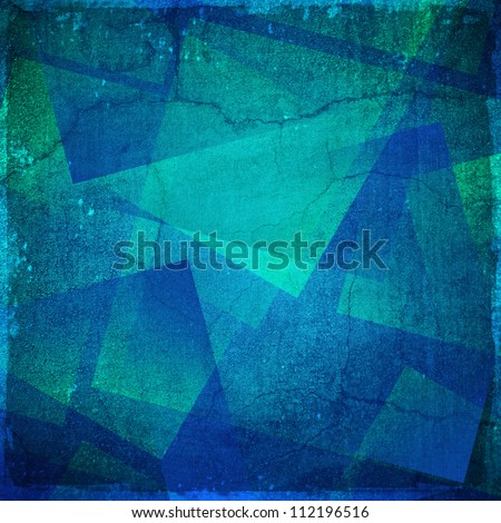 Grunge blue and green background