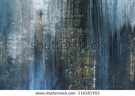 grunge blue and rusty dirty paint on metal background #116581903