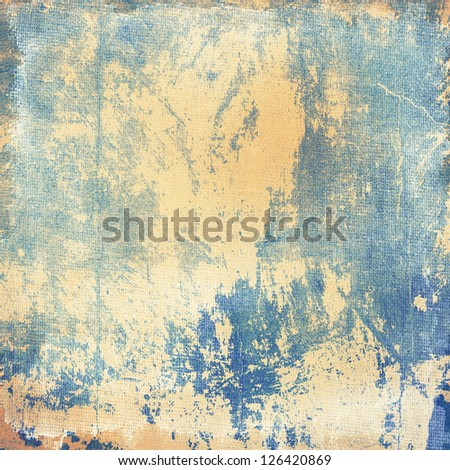 Grunge blue creased and scratched  background, design element