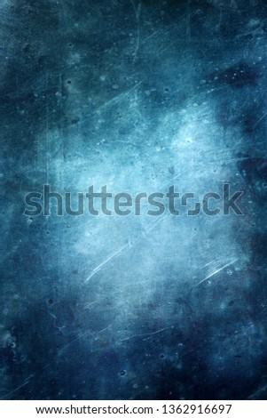 Grunge blue scratched background, abstract distressed texture   #1362916697