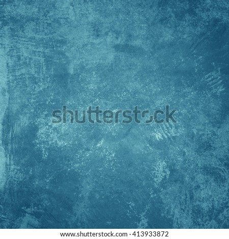 Grunge blue wall background or texture