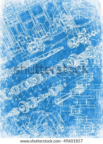 grunge blueprint texture 2