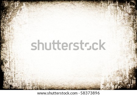 Grunge brown frame. Useful as background for design-works. - stock photo