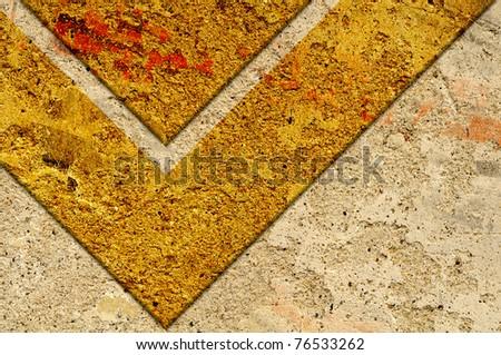 Grunge brown stripe wallpaper corner ancient style