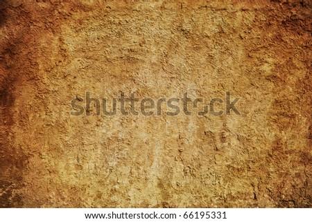 Grunge brown wall (urban texture) - stock photo