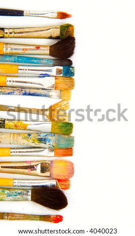 grunge brushes. isolated