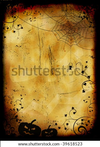 Grunge burned halloween background