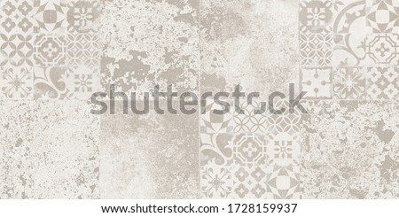 grunge cement and retro pattern tile background Photo stock ©