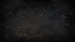 Grunge Charcoal Black Background Wall Texture