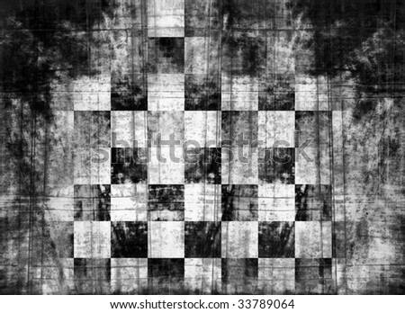 grunge checkered flag - stock photo
