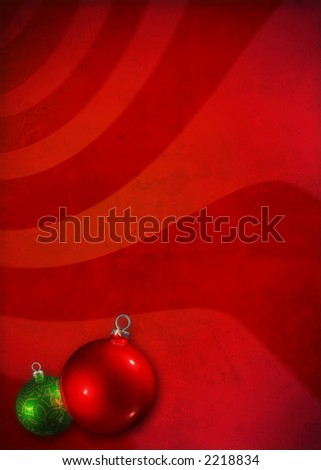 Grunge christmas background with decoration elements