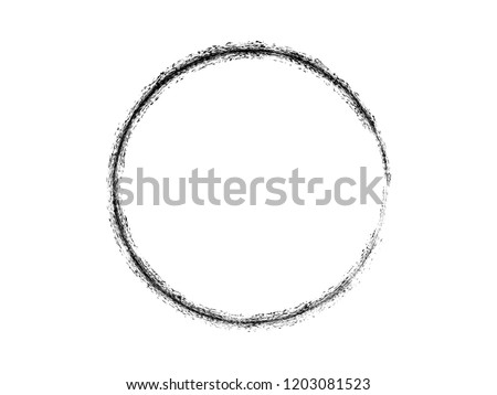 Grunge circle.Grunge brush circle.Grunge logo.Paint stroke.