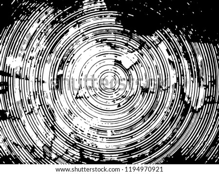 Grunge circle round rough background art abstract monochrome halftone black and white decorative pattern. curved lines. design for web and print #1194970921