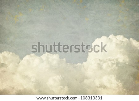 Grunge clouds and sky background with copy space - stock photo