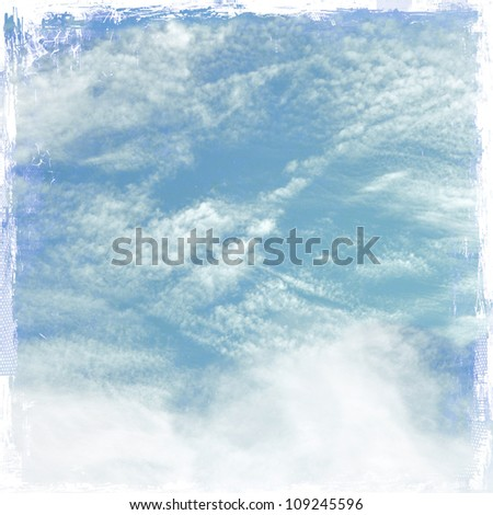 Grunge cloudy sky background