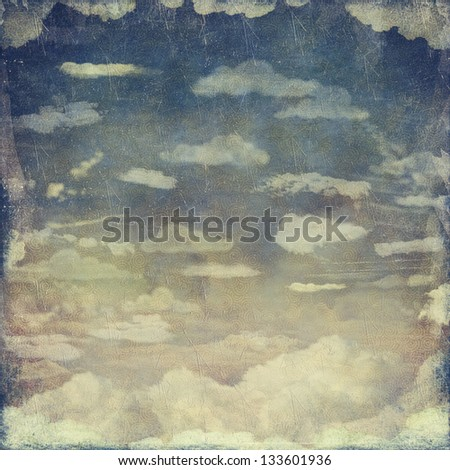 Grunge cloudy sky for background