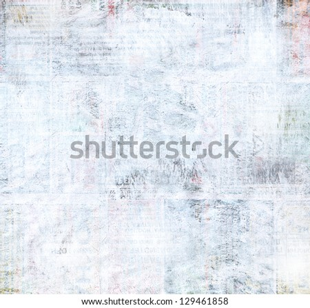 Grunge collage background made of painted newspaper