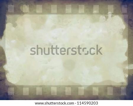 Grunge color filmstrip texture,  photo film frame background