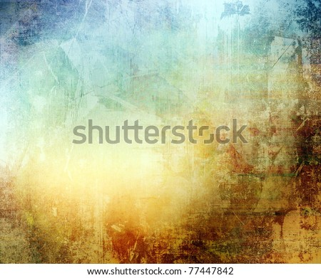 Grunge color texture, blue and brown color