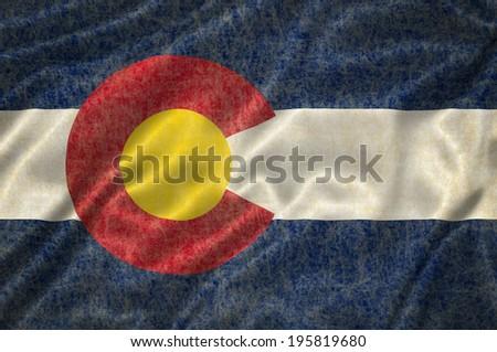 Grunge Colorado state Flag