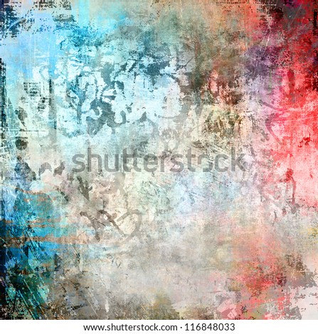 Grunge colorful background, watercolor illustration