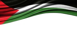 Grunge colorful flag of Palestine, with copyspace for your text or images