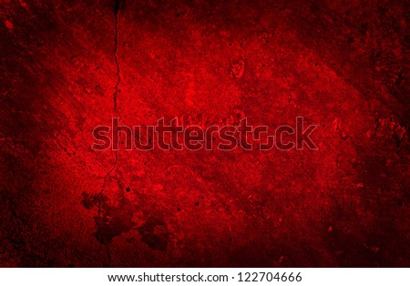 Grunge Concrete Red Wall Texture - stock photo