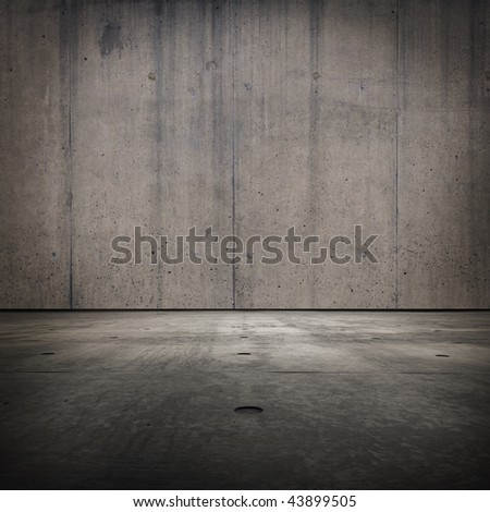 Grunge concrete room texture