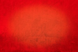 Grunge concrete texture background , Red wall.
