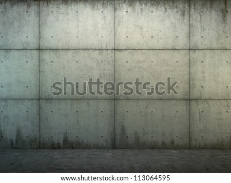 Grunge  concrete wall and floor closeup