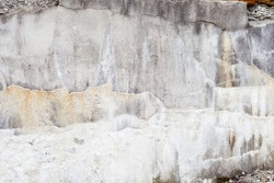 Grunge concrete wall with crack and stains in industrial building. Cement texture for design and background, with drips.