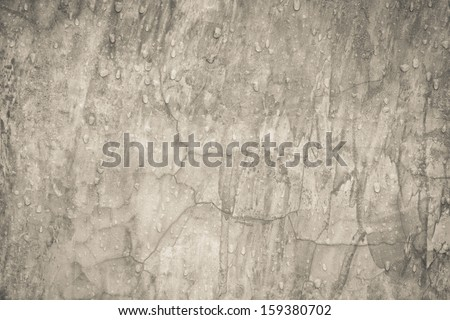Grunge concrete wall with water rain drops on surface