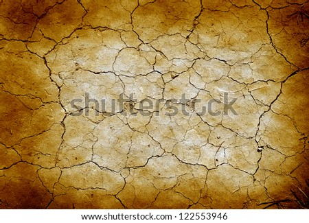Grunge cracked earth in dry desert.