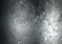 Grunge cracked metal texture ; abstract industrial background