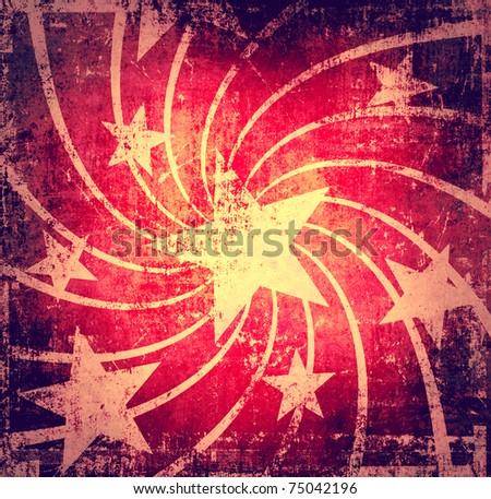 Grunge dark stars poster
