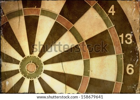 Grunge Dartboard - stock photo