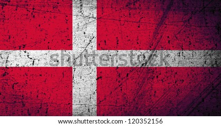 Grunge Denmark Flag as background or texture