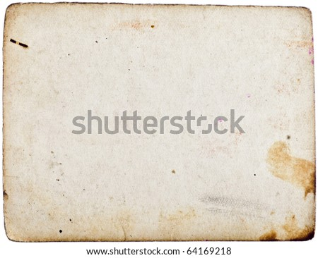 Grunge empty old paper - stock photo