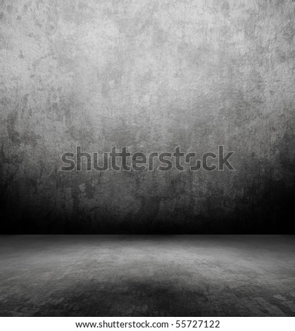 grunge empty room - stock photo