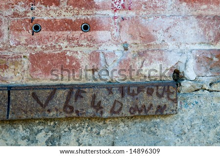 Grunge facade details with rusty metal plank - Virginia City, Nevada