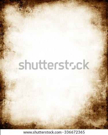 Grunge Faded Background With Frame #336672365