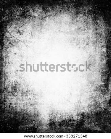 Grunge Faded Distressed Texture Background With Frame