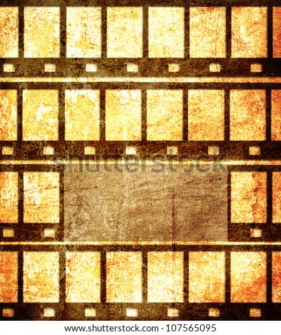 Grunge film frame background with space for text