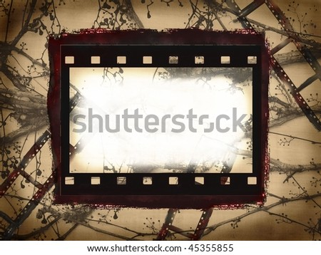 Grunge film frame with free space for your text