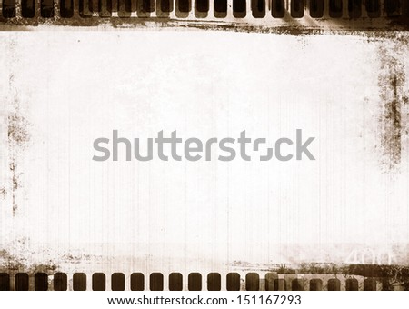 grunge filmstrip with space for picture or text