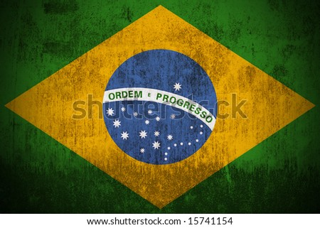 Grunge Flag of Brazil. - stock photo