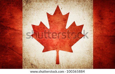 grunge flag of Canada