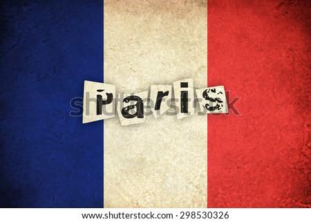 grunge flag of france   french...