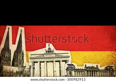 grunge flag of germany   german ...