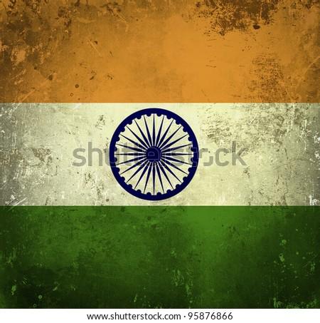 Grunge flag of India